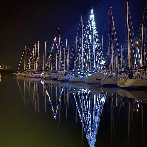 Howth Marina in festive mood