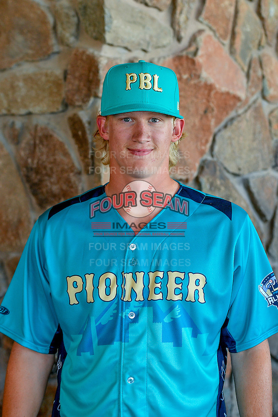 Nash Walters (33) of the Helena Brewers and the Pioneer League All-Stars poses for a photo during activities before the 2nd Annual Northwest League-Pioneer League All-Star Game at Snowbasin Resort on August 1, 2016 in Ogden, Utah. (Stephen Smith/Four Seam Images)