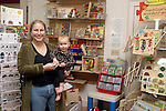 MORRIS, CT-- 19 January 2005   011905DA03.JPG Dragon fly. (partner), Chris Lynch and daughter Cambell Lynch, 16 months. For marketplace. Staff photo. Darlene Douty.
