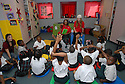 """Sherri Nash and Lucinda Brewer (left to right) work with first-graders at Dr. Martin Luther King Charter School for Science and Technology during """"Play Power,"""" a program sponsored by the Louisiana Children's Museum in New Orleans, Tuesday, Oct. 16, 2007.<br /> (Cheryl Gerber photo)"""