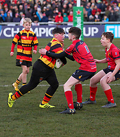 Saturday 18th January 2020 | Ulster vs Bath<br /> <br /> Halftime mini-rugby during the Heineken Champions Cup Pool 3 Round 6 match between Ulster Rugby and Bath Rugby at Kingspan Stadium, Ravenhill Park, Belfast, Northern Ireland. Photo by John Dickson / DICKSONDIGITAL