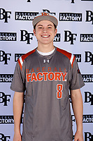 Dylan Scheurich (8) of Edward S. Marcus High School in Highland Village, Texas during the Baseball Factory All-America Pre-Season Tournament, powered by Under Armour, on January 12, 2018 at Sloan Park Complex in Mesa, Arizona.  (Mike Janes/Four Seam Images)