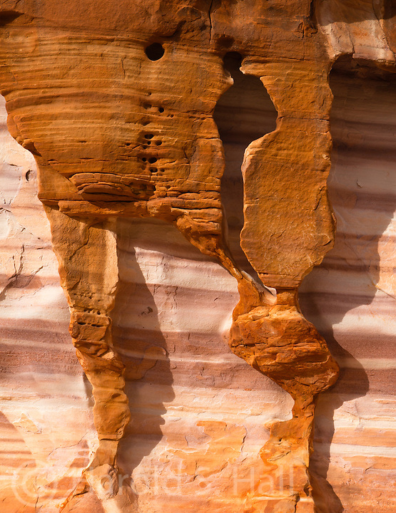 Rocks make an abstract rock design in the southwest.