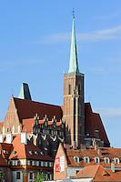 Kreuzkirche und Kathedrale auf der Dominsel in Wroclaw (Breslau), Woiwodschaft Niederschlesien (Województwo dolnośląskie), Polen, Europa<br /> Church of the Cross  on Cathedral Island in Wroclaw, Poland, Europe