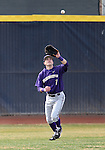 University of Washington's Braden Bishop makes a catch in centerfield  in a college baseball game against UC Davis, in Davis, Ca., on Saturday, Feb. 16, 2013. Davis won the opener 6-5 and dropped the second game 3-2..Photo by Cathleen Allison