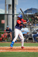 Frandy Flete (6) during the Dominican Prospect League Elite Florida Event at Pompano Beach Baseball Park on October 14, 2019 in Pompano beach, Florida.  (Mike Janes/Four Seam Images)