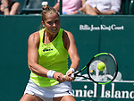 April  4, 2017:  Shelby Rogers (USA) defeated Veronica Cepede Royg (PAR) 6-7, 6-3, 7-6, at the Volvo Car Open being played at Family Circle Tennis Center in Charleston, South Carolina.  ©Leslie Billman/Tennisclix/Cal Sport Media
