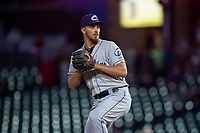 Columbus Clippers relief pitcher A.J. Cole (36) during an International League game against the Indianapolis Indians on April 29, 2019 at Victory Field in Indianapolis, Indiana. Indianapolis defeated Columbus 5-3. (Zachary Lucy/Four Seam Images)