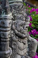 Bali, Indonesia.  Hindu Guardian (Dwarapala) Statue in the Kerta Gosa Compound, Klungkung, Semarapura.