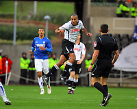 ATTENTION SPORTS PICTURE DESK<br /> Pictured: Darren Pratley of Swansea City in action <br /> Re: Coca Cola Championship, Swansea City Football Club v Cardiff City FC at the Liberty Stadium, Swansea, south Wales. Saturday 07 November 2009