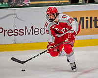 29 December 2018: Rensselaer Engineer Defenseman Kyle Hallbauer, a Freshman from Howell, NJ, in third period action against the University of Vermont Catamounts at Gutterson Fieldhouse in Burlington, Vermont. The Catamounts rallied from a 2-0 deficit to defeat RPI 4-2 and win the annual Catamount Cup Tournament. Mandatory Credit: Ed Wolfstein Photo *** RAW (NEF) Image File Available ***