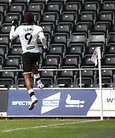 19th December 2020; Liberty Stadium, Swansea, Glamorgan, Wales; English Football League Championship Football, Swansea City versus Barnsley; Jamal Lowe of Swansea City celebrates scoring his sides first goal making it 1-0 in the 2nd minute