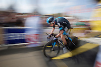 Chris Froome (GBR/SKY) off the start podium<br /> <br /> stage 1 prologue: Utrecht (13.8km)<br /> Tour de France 2015