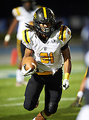 St. Frances Academy Panthers running back Gary Brightwell (21) runs up field during a game against the IMG Academy Ascenders on November 12, 2016 at IMG Academy in Bradenton, Florida.  IMG defeated St. Frances 38-0.  (Mike Janes Photography)