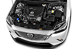 Car Stock 2017 Mazda CX-3 Grand-Touring 5 Door SUV Engine  high angle detail view