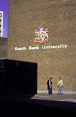 Students outside South Bank University, London