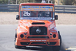 Spanish driver Pedro Ignacio Garcia Marco belonging Spanish team Pedro Ignacio Garcia Marco during the super pole SP1 of the XXX Spain GP Camion of the FIA European Truck Racing Championship 2016 in Madrid. October 01, 2016. (ALTERPHOTOS/Rodrigo Jimenez)