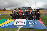 BOGOTÁ- COLOMBIA, 17-10-2020: Formacion Tigres.Tigres FC y Valledupar en partido por la fecha 13 del Torneo BetPlay DIMAYOR I 2020 jugado en el estadio Metropoltano de Techo  de la ciudad de Bogotá. /Team Tigres. Tigres FC and Valledupar in match for the date 13 as part of BetPlay DIMAYOR Tournament I 2020 played at the  Metropolitano de Techo  stadium of Bogota city. Photos: VizzorImage / Felipe Caicedo / Contribuidor