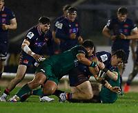 13th March 2021; Galway Sportsgrounds, Galway, Connacht, Ireland; Guinness Pro 14 Rugby, Connacht versus Edinburgh; Damien Hoyland (Edinburgh) is taken to ground