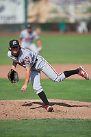 Billings Mustangs starting pitcher Packy Naughton (52) delivers a pitch to the plate against the Ogden Raptors at Lindquist Field on August 13, 2017 in Ogden, Utah. The Raptors defeated the Mustangs 6-5.  (Stephen Smith/Four Seam Images)