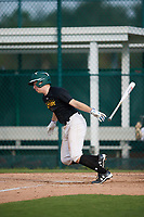 Ethan Fletchall (20), from Kansas City, Missouri, while playing for the Pirates during the Baseball Factory Pirate City Christmas Camp & Tournament on December 28, 2017 at Pirate City in Bradenton, Florida.  (Mike Janes/Four Seam Images)