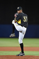 Bradenton Marauders pitcher Bryton Trepagnier (37) delivers a pitch during a game against the Charlotte Stone Crabs on April 4, 2014 at Charlotte Sports Park in Port Charlotte, Florida.  Bradenton defeated Charlotte 9-1.  (Mike Janes/Four Seam Images)