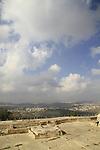 Israel, Jerusalem mountains, a view Northeast from Nabi Samuel on Mount Shmuel