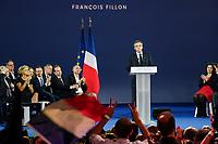 VALERIE PECRESSE, BRUNO RETAILLEAU, JEAN-CHRISTOPHE LAGARDE, JEAN-FRANCOIS COPE, FRANCOIS FILLON -| MEETING DE FRANCOIS FILLON A PARIS, FRANCE, LE 09/04/2017.