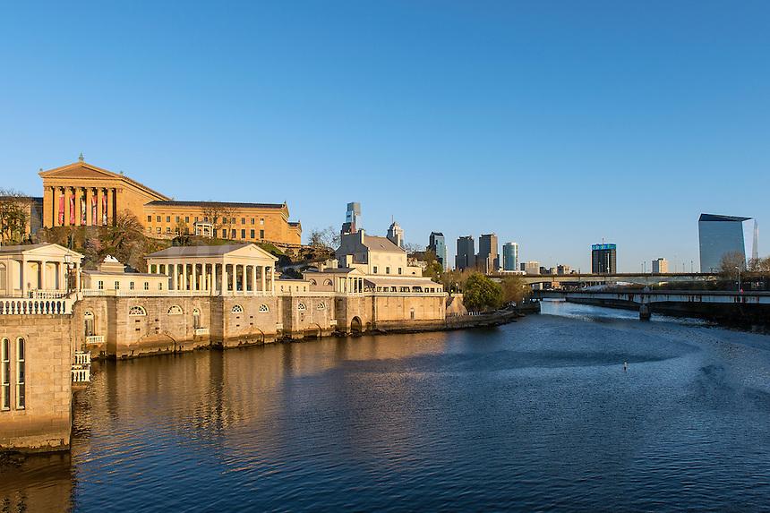 The Fairmount Water Works and art museum, Philadelphia, Pa, Pennsylvania, USA