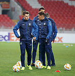 07.11.18 Rangers training at the Spartak Stadium, Moscow: Glenn Middleton