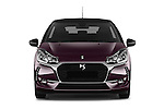 Car photography straight front view of a 2016 Ds DS3 So-Chic 3 Door hatchback Front View