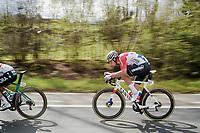 Mathieu Van Der Poel (NED/Correndon-Circus) speeding towards Waregem<br /> <br /> 74th Dwars door Vlaanderen 2019 (1.UWT)<br /> One day race from Roeselare to Waregem (BEL/183km)<br /> <br /> ©kramon