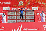Sam Bennett (IRL) Deceuninck-Quick Step wins Stage 6 of the 2021 UAE Tour running 165km from Deira Island to Palm Jumeirah, Dubai, UAE. 26th February 2021.<br /> Picture: LaPresse/Gian Mattia D'Alberto   Cyclefile<br /> <br /> All photos usage must carry mandatory copyright credit (© Cyclefile   LaPresse/Gian Mattia D'Alberto)