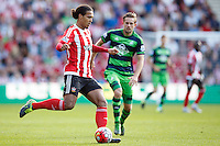 Virgil van Dijk and Gylfi Sigurdsson during the Barclays Premier League match between Southampton v Swansea City played at St Mary's Stadium, Southampton