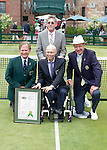 2015 Inductee, David Hall (AUS)  at the 2015 Induction Ceremony at the International Tennis Hall of Fame, Newport, RI USA.  The ceremony took place on July 18, 2015