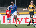 Cowdenbeath's Kudus Oyenuga (19) celebrates after he scores their second goal.