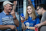 St Johnstone v Brechin….24.07.19      McDiarmid Park     Betfred Cup       <br />St Johnstone fans before kick off<br />Picture by Graeme Hart. <br />Copyright Perthshire Picture Agency<br />Tel: 01738 623350  Mobile: 07990 594431