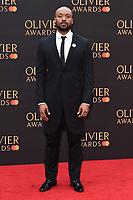 Arinze Kene<br /> arriving for the Olivier Awards 2019 at the Royal Albert Hall, London<br /> <br /> ©Ash Knotek  D3492  07/04/2019