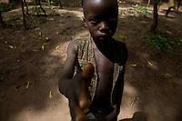 Portrait. Congolese refugees in Makpandu camp, South Sudan.