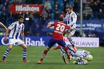 Real Sociedad´s Hector Hernandez during 2015-16 La Liga match between Atletico de Madrid and Real Sociedad at Vicente Calderon stadium in Madrid, Spain. March 01, 2016. (ALTERPHOTOS/Victor Blanco)