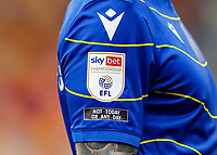 """20th March 2021; Brentford Community Stadium, London, England; English Football League Championship Football, Brentford FC versus Nottingham Forest; Sky Bet Championship EFL Patch and """"Not Today or Any Day"""" in support of anti-racism"""
