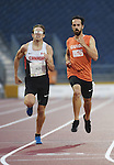 Dustin Walsh and Dylan Williamson, Toronto 2015 - Para Athletics // Para-athlétisme.<br /> Dustin Walsh and his guide Dylan Williamson compete in the Men's 400m T11 // Dustin Walsh et son guide Dylan Williamson participent au 400 m T11 masculin. 10/08/2015.