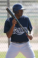 March 19th 2008:  Ron Edwards of the Tampa Bay Devil Rays minor league system during Spring Training at the Raymond A. Naimoli Complex in St. Petersburg, FL.  Photo by:  Mike Janes/Four Seam Images