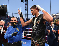 CARSON, CA - MAY 1: Sebastian Fundora in his fight against Jorge Cota on the Fox Sports PBC Pay-Per-View fight on May 1, 2021 at Dignity Health Sports Park in Carson, CA. (Photo by Frank Micelotta/Fox Sports/PictureGroup)