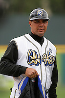 April 11, 2010: Keith Johnson, manager of the Rancho Cucamonga Quakes, before game against the Inland Empire 66'ers at The Epicenter in Rancho Cucamonga,CA.  Photo by Larry Goren/Four Seam Images