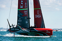 13th March 2021; Waitemata Harbour, Auckland, New Zealand;  Emirates Team New Zealand in race five against Luna Rossa Prada Pirelli Team on day three of the America's Cup presented by Prada.