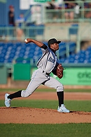 Hudson Valley Renegades pitcher Rodolfo Sanchez (30) during a NY-Penn League game against the Mahoning Valley Scrappers on July 15, 2019 at Eastwood Field in Niles, Ohio.  Mahoning Valley defeated Hudson Valley 6-5.  (Mike Janes/Four Seam Images)