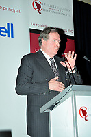 Montreal (QC) CANADA,Oct 19 2009- ,  Raymond chretien AT THE CANADIAN CLUB OF MONTREAL'S PODIUM.