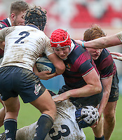 Tuesday 28th February 2017 | ULSTER SCHOOLS CUP SEMI-FINAL<br /> <br /> Tom Stewart during the Ulster Schools Cup Semi-Final between MCB and BRA at Kingspan Stadium, Ravenhill Park, Belfast, Northern Ireland. <br /> <br /> Photograph by John Dickson | www.dicksondigital.com