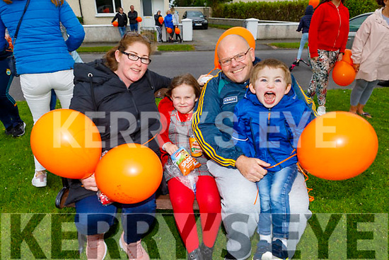 The Lawlor family from Ardfert attending the Comfort for Chemo balloon release fundraiser in Casements Avenue, Ardfert on Sunday evening. L to r: Sinead, Cara, Kieran and Conor Lawlor.